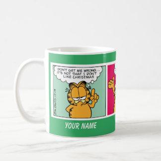 """""""Eu amo caneca da banda desenhada de Garfield do"""