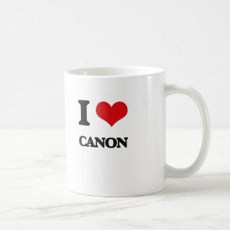 Eu amo CANON Caneca
