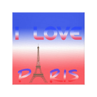 Eu amo canvas de Paris