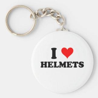 Eu amo capacetes chaveiro
