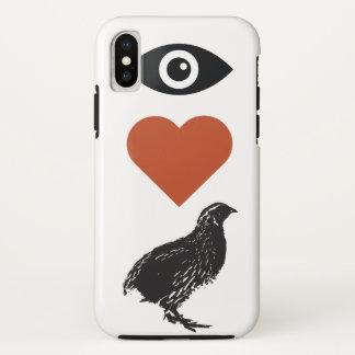 Eu amo capas de iphone das codorniz