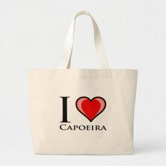 Eu amo Capoeira Bolsa Tote Grande