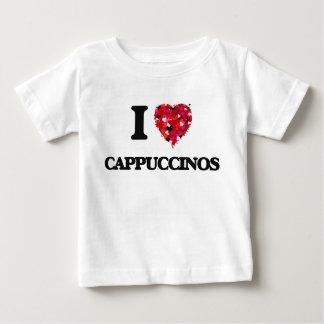 Eu amo Cappuccinos Camisetas
