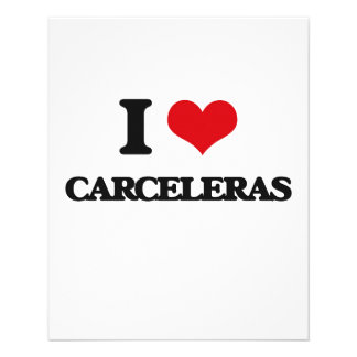 Eu amo CARCELERAS Panfleto Personalizado