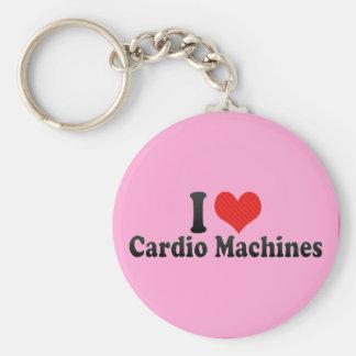 Eu amo cardio- máquinas chaveiros