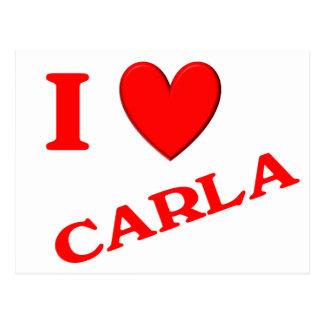 Eu amo Carla Cartoes Postais