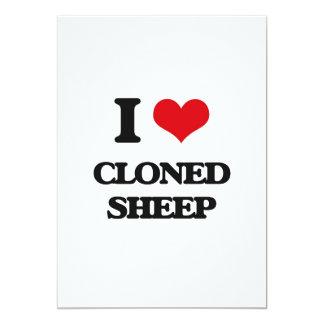 Eu amo carneiros clonados convite 12.7 x 17.78cm