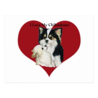 """""""Eu amo cartão da arte do cão do meu Chhihuahua"""""""