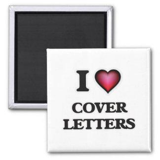 Eu amo cartas de apresentação ímã quadrado