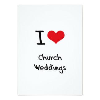 Eu amo casamentos da igreja convites personalizados