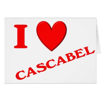 Eu amo Cascabel Cartoes