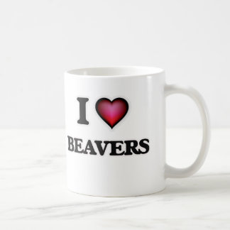 Eu amo castores caneca de café