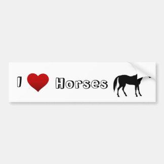 eu amo cavalos adesivo