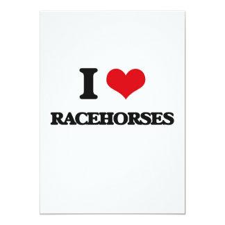 Eu amo cavalos de corrida convite 12.7 x 17.78cm