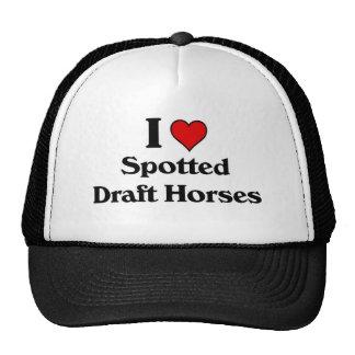 Eu amo cavalos de esboço manchados boné