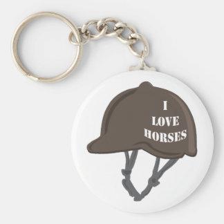Eu amo cavalos chaveiros