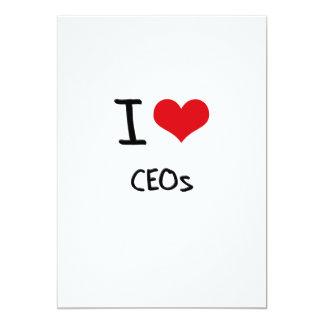 Eu amo CEOs Convites