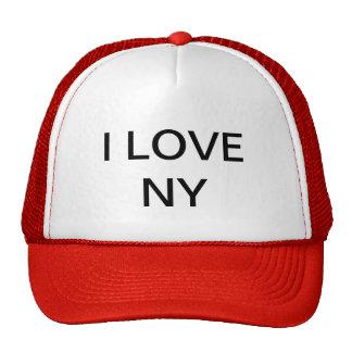 """""""EU AMO chapéu do camionista de NY"""" Bones"""