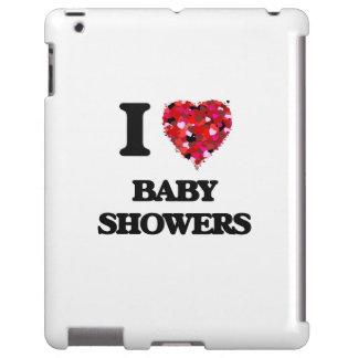 Eu amo chás de fraldas capa para iPad