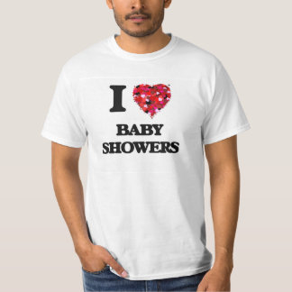 Eu amo chás de fraldas tshirts