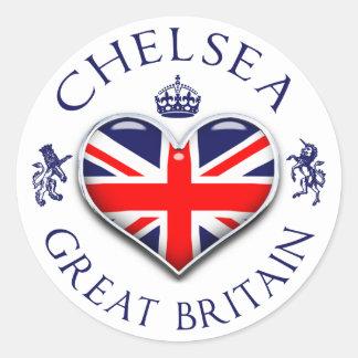 Eu amo Chelsea Adesivo Redondo
