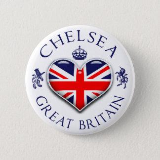 Eu amo Chelsea Bóton Redondo 5.08cm