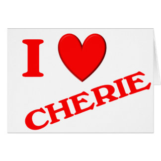 Eu amo Cherie Cartao
