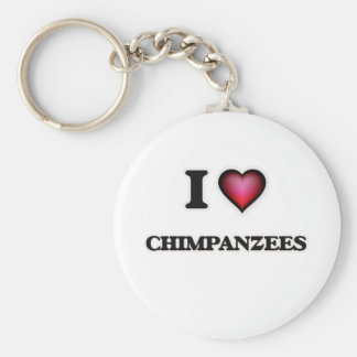Eu amo chimpanzés chaveiro