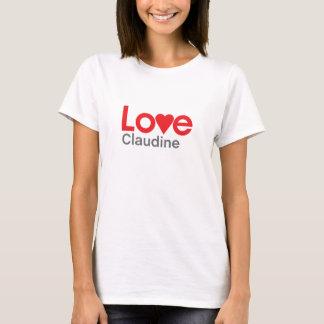 Eu amo Claudine Camiseta
