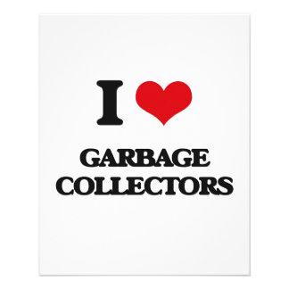 Eu amo coletores de lixo panfletos