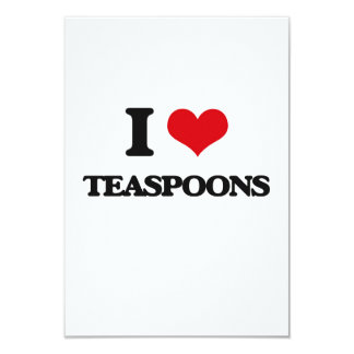 Eu amo colheres de chá convite 8.89 x 12.7cm