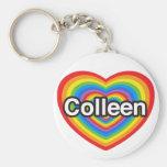 Eu amo Colleen. Eu te amo Colleen. Coração Chaveiros