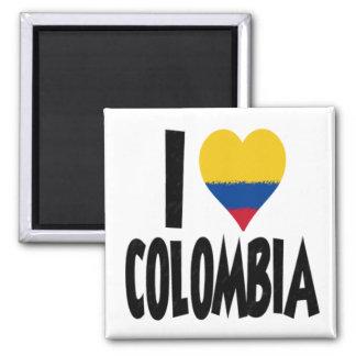 Eu amo Colômbia Ímã Quadrado