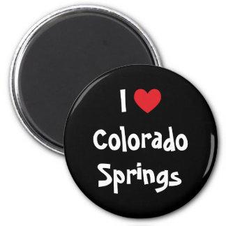 Eu amo Colorado Springs Ímã Redondo 5.08cm