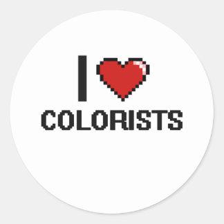 Eu amo Colorists Adesivo