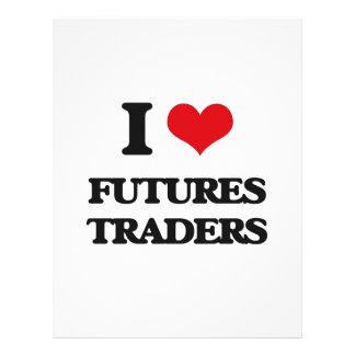 Eu amo comerciantes de futuros modelo de panfletos