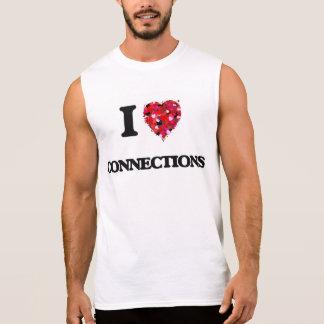 Eu amo conexões camisetas sem manga
