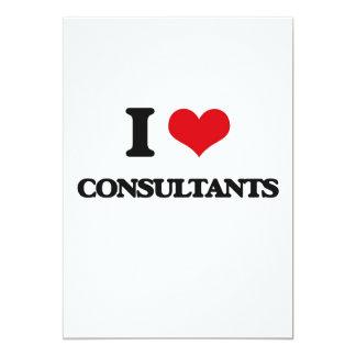 Eu amo consultantes convite 12.7 x 17.78cm