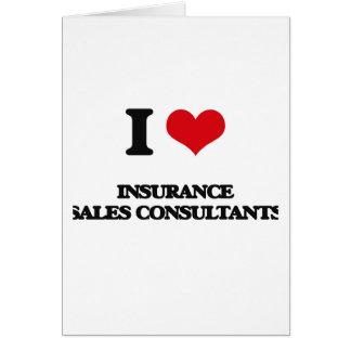 Eu amo consultantes das vendas do seguro cartão comemorativo