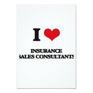 Eu amo consultantes das vendas do seguro convite personalizados