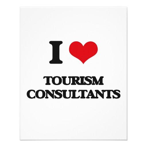 Eu amo consultantes do turismo modelo de panfleto