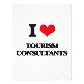 Eu amo consultantes do turismo modelo de panfletos