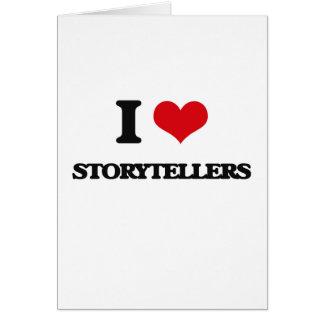 Eu amo contadores de histórias cartão comemorativo