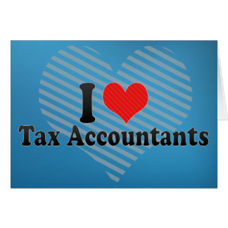 Eu amo contadores do imposto cartao