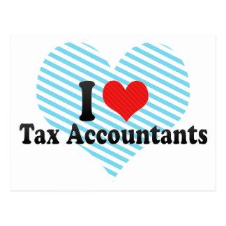 Eu amo contadores do imposto cartao postal