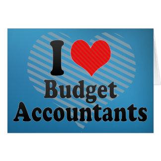 Eu amo contadores do orçamento cartao
