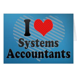 Eu amo contadores dos sistemas cartões