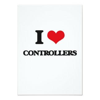 Eu amo controladores convite 12.7 x 17.78cm