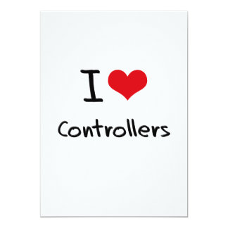 Eu amo controladores convite personalizado