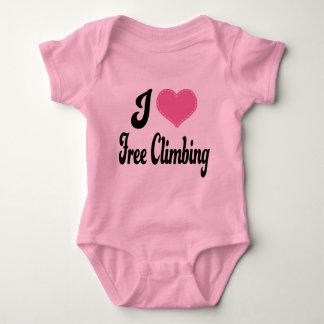 Eu amo (coração) a escalada livre body para bebê